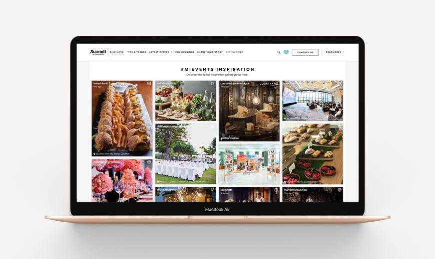 marriot international web design by mediatropy digital agency